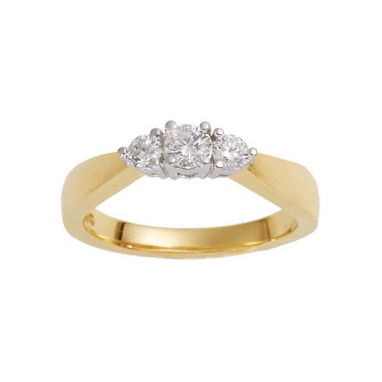 image of 71-TR758 Diamond Promise Ring_White and yellow gold TRINITY STYLE