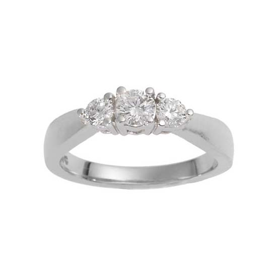 image of 71-TR758W Diamond Promise Ring_White and yellow gold TRINITY STYLE