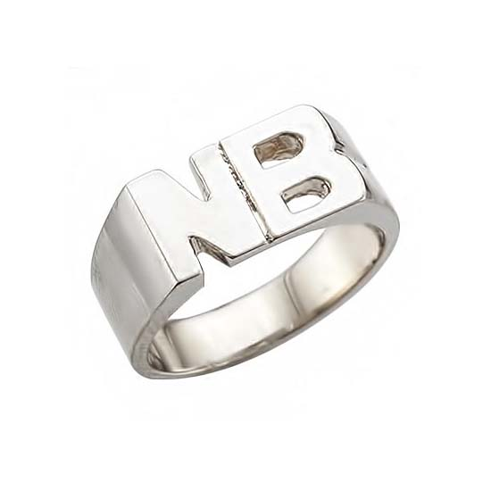 image of INITIAL RINGS_ IDEAL FOR YOUNGE GIRLS OR BOYS_RM-281_ 5.50g in 14kt_7.6mm wide_ solid under_2 (2)