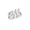 image of Initial ring_ Ladies diamond initial ring yellow gold_W