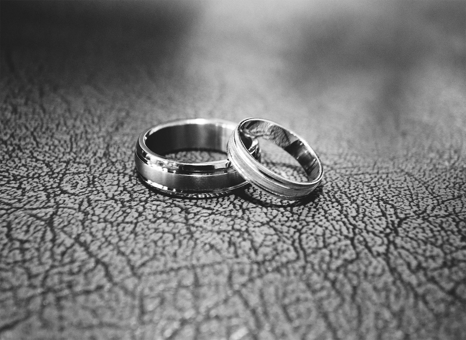image of 2 wedding rings for our lifetime guarantee