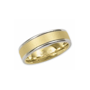 IMAGE OF 11-767 WEDDING BANDS_TWO TONE STYLE COMFORT FIT