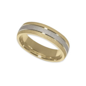 IMAGE OF 11-768 WEDDING BANDS_TWO TONE STYLE COMFORT FIT