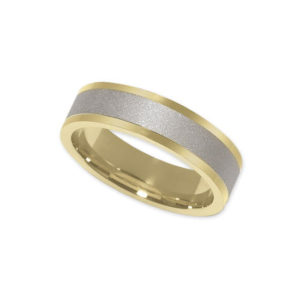 IMAGE OF 11-769 WEDDING BANDS_TWO TONE STYLE COMFORT FIT