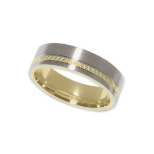 IMAGE OF 11-777 WEDDING BANDS_TWO TONE STYLE COMFORT FIT