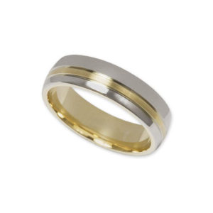 IMAGE OF 11-778 WEDDING BANDS_TWO TONE STYLE COMFORT FIT