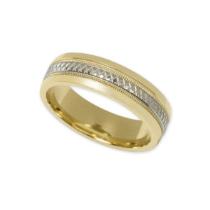 IMAGE OF 11-780 WEDDING BANDS_TWO TONE STYLE COMFORT FIT