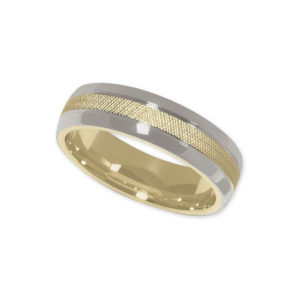 IMAGE OF 11-787 WEDDING BANDS_TWO TONE STYLE COMFORT FIT