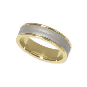 IMAGE OF 11-789 WEDDING BANDS_TWO TONE STYLE COMFORT FIT