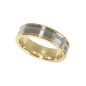 IMAGE OF 11-791 WEDDING BANDS_TWO TONE STYLE COMFORT FIT