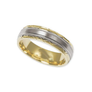 IMAGE OF 11-792 WEDDING BANDS_TWO TONE STYLE COMFORT FIT