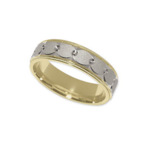 IMAGE OF 11-793 WEDDING BANDS_TWO TONE STYLE COMFORT FIT