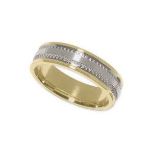 IMAGE OF 11-794 WEDDING BANDS_TWO TONE STYLE COMFORT FIT