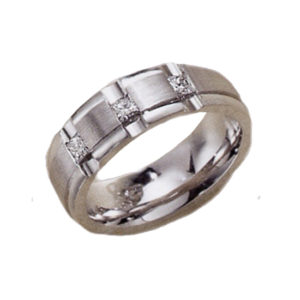 IMAGE OF 11-A100 WEDDING RINGS_ DIAMOND SET BAND