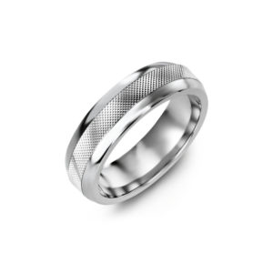 IMAGE OF 11-A115 WEDDING RINGS_ DIAMOND SET BAND - DIAMOND CUT WEDDING BAND