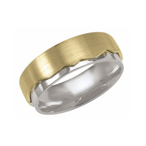 IMAGE OF 11-BS277 WEDDING BANDS_UNIQUE STYLE TRI COLOR HAMD MADE COMFORTFIT 8MM WIDE