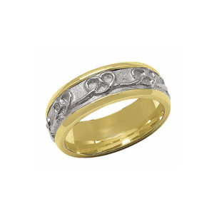 IMAGE OF 11-C765 WEDDING BANDS_TWO TONE STYLE COMFORTFIT 6MM WIDE