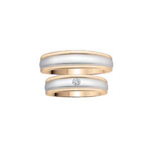 image of 21-2102 WEDDING BANDS_ HIS AND HERS MATCHING RINGS WITH DIAMONDS