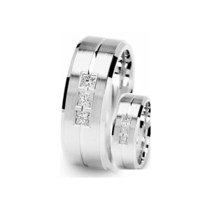 IMAGE OF 21-2108 WEDDING BANDS_ HIS AND HERS MATCHING RINGS WITH DIAMONDS