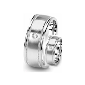 IMAGE OF 21-2112 WEDDING BANDS_ HIS AND HERS MATCHING RINGS WITH DIAMONDS