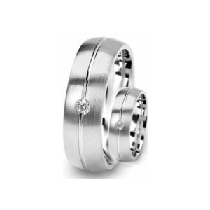 IMAGE OF 21-2113 WEDDING BANDS_ HIS AND HERS MATCHING RINGS WITH DIAMONDS