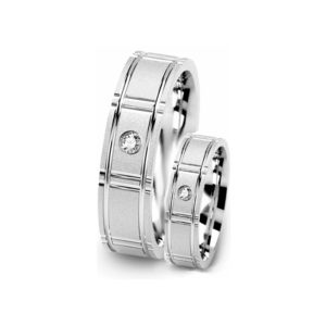 IMAGE OF 21-2114 WEDDING BANDS_ HIS AND HERS MATCHING RINGS WITH DIAMONDS