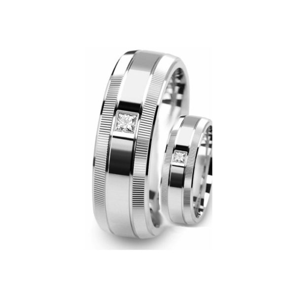 IMAGE OF 21-2116 WEDDING BANDS_ HIS AND HERS MATCHING RINGS WITH DIAMONDS