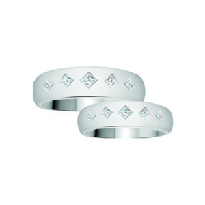 image of 21-2126 WEDDING BANDS_ HIS AND HERS MATCHING RINGS WITH DIAMONDS