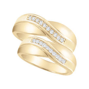 image of 21-2127 WEDDING BANDS_ HIS AND HERS MATCHING RINGS WITH DIAMONDS