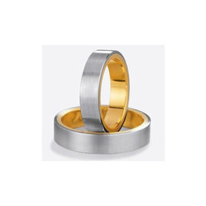 image of 21-2129 WEDDING BANDS_ HIS AND HERS MATCHING RINGS TWO TONE