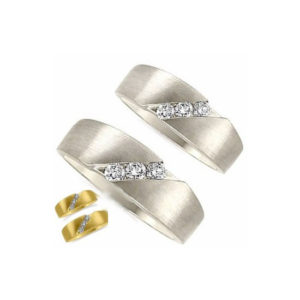 image of 21-2130 WEDDING BANDS_ HIS AND HERS MATCHING RINGS WITH DIAMONDS