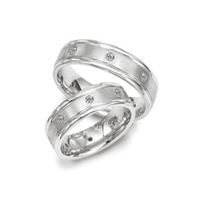 image of 21-2132 WEDDING BANDS_ HIS AND HERS MATCHING RINGS WITH DIAMONDS