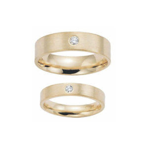image of 21-2133 WEDDING BANDS_ HIS AND HERS MATCHING RINGS WITH DIAMONDS