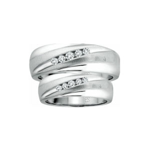 IMAGE OF 21-2136 WEDDING BANDS_ HIS AND HERS MATCHING RINGS WITH DIAMONDS