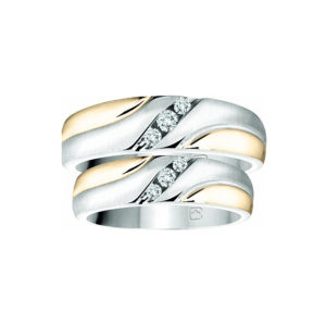 IMAGE OF 21-2137 WEDDING BANDS_ HIS AND HERS MATCHING RINGS WITH DIAMONDS