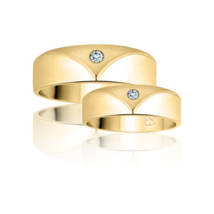 IMAGE OF 21-2170 WEDDING BANDS_ HIS AND HERS MATCHING RINGS WITH DIAMONDS