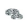 IMAGE OF 21-2171 WEDDING BANDS_ HIS AND HERS MATCHING RINGS WITH DIAMONDS WITH BLACK RHODIUM FINISH
