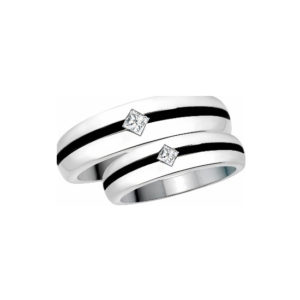 IMAGE OF 21-2172 WEDDING BANDS_ HIS AND HERS MATCHING RINGS WITH DIAMONDS WITH BLACK RHODIUM FINISH