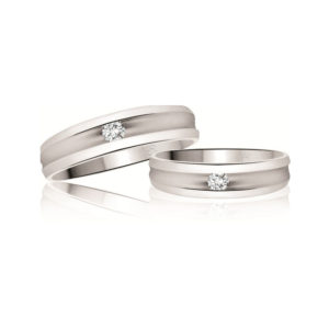 IMAGE OF 21-2176 WEDDING BANDS_ WHITE GOLD HIS AND HERS MATCHING RINGS WITH DIAMONDS