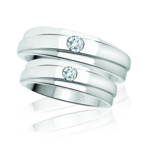 IMAGE OF 21-2177 WEDDING BANDS_ WHITE GOLD HIS AND HERS MATCHING RINGS WITH DIAMONDS