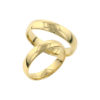 IMAGE OF 21-2195-WEDDING-BANDS_-HIS-AND-HERS-MATCHING-RINGS-4MM-WIDE-YELLOW-OR-WHITE-GOLD-HIGH POLISHED
