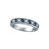 IMAGE OF 21-B202 LADIES STONE RINGS_BLUE SAPPHIRES AND DIAMOND BAND