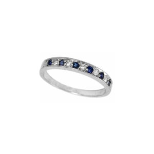 IMAGE OF 21-B208 LADIES STONE RINGS_BLUE SAPPHIRES AND DIAMOND BAND