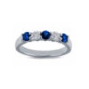 IMAGE OF 21-B318 LADIES STONE RINGS_BLUE SAPPHIRES AND DIAMOND BAND