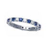 IMAGE OF 21-F278 LADIES STONE RINGS_BLUE SAPPHIRES AND DIAMOND ETERNITY BAND