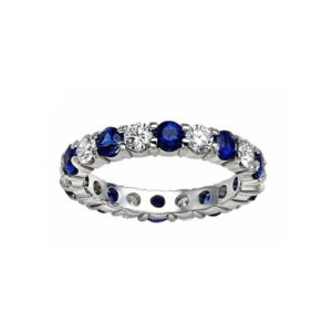 IMAGE OF 21-F288 LADIES STONE RINGS_FULL ETERNITY BLUE SAPPHIRES AND DIAMOND ETERNITY BAND
