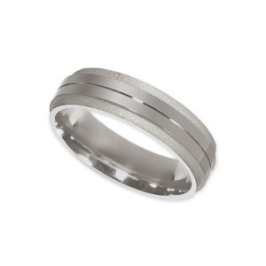 IMAGE OF 21-W800 WEDDING BANDS_WHITE GOLD 6MM WIDE