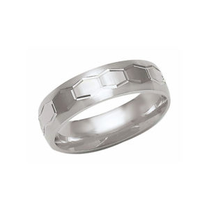 IMAGE OF 21-W824 WEDDING BANDS_WHITE GOLD SPECIAL DESIGN COMFORTFIT