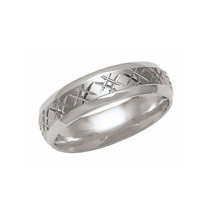 IMAGE OF 21-W826 WEDDING BANDS_WHITE GOLD SPECIAL DESIGN COMFORTFIT