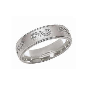 IMAGE OF 21-W886 WEDDING BANDS_WHITE GOLD SPECIAL DESIGN COMFORT FIT